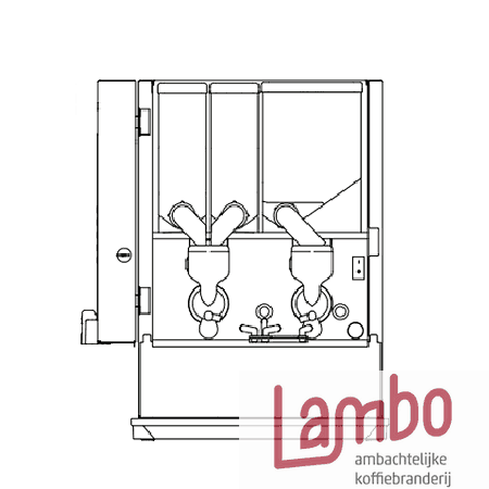 Lambo Koffiebranderij: Animo OptiVend 32 koffiemachine